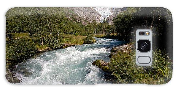 Briksdal Glacier Melting Waters Galaxy Case