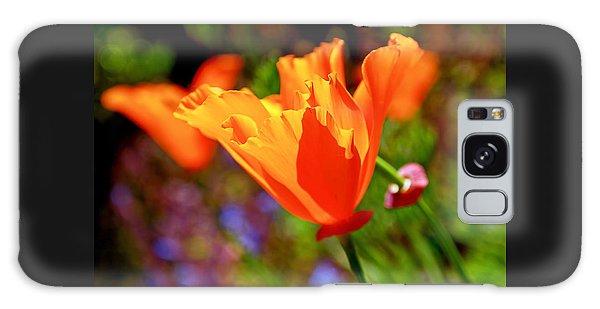 Brilliant Spring Poppies Galaxy Case by Rona Black