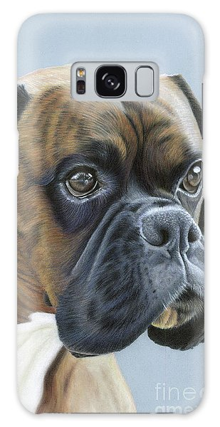 Galaxy Case featuring the painting Brindle Boxer Dog - Jack by Donna Mulley