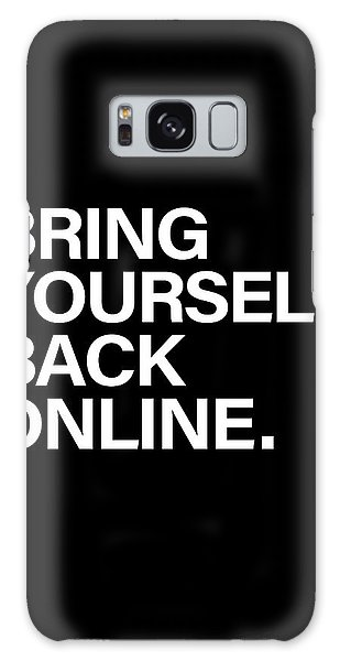 White Galaxy Case - Bring Yourself Back Online by Olga Shvartsur