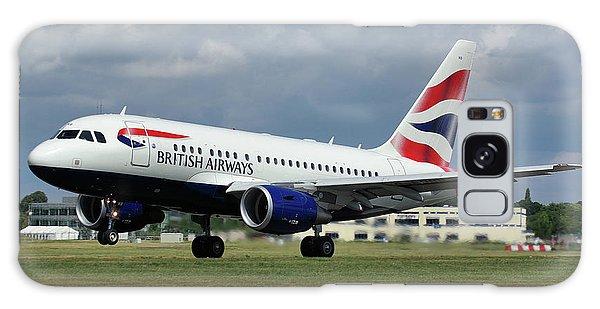 British Airways A318-112 G-eunb Galaxy Case by Tim Beach
