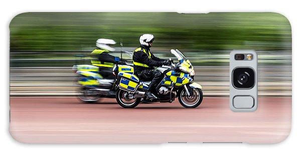 British Police Motorcycle Galaxy Case