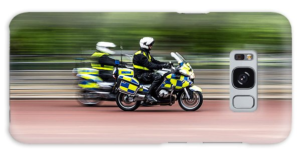 British Police Motorcycle Galaxy Case