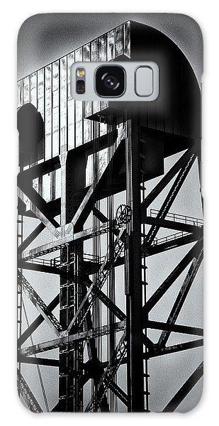 Broadway Bridge South Tower Detail 1 Monochrome Galaxy Case