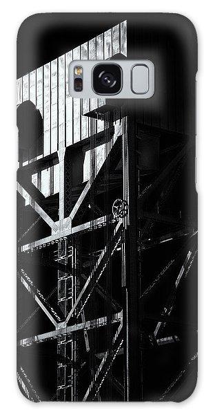Broadway Bridge South Tower Detail 3 Monochrome Galaxy Case
