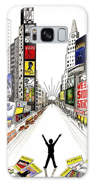 Pen And Ink Drawing Galaxy Case - Broadway Dreamin' by Marilyn Smith