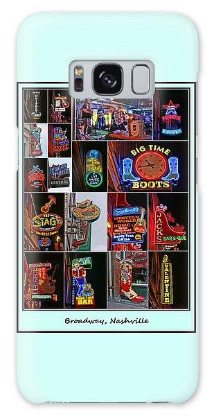Broadway, Nashville - Collage # 2 Galaxy Case