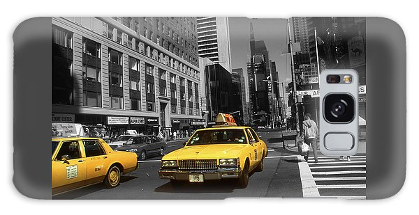 New York Broadway - Yellow Taxi Cabs Galaxy Case