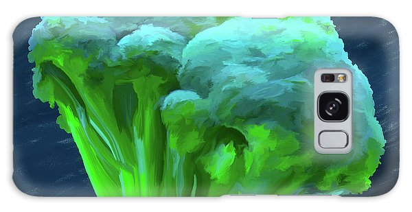 Broccoli 01 Galaxy Case by Wally Hampton