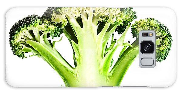 Food Galaxy Case - Broccoli Cutaway On White by Johan Swanepoel