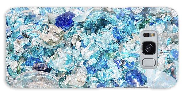 Broken Glass Blue Galaxy Case