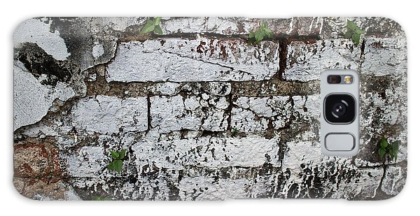 Broken Stucco Wall With Whitewashed Exposed Brick Texture And Ve Galaxy Case by Jason Rosette