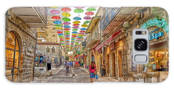 Brollies Over Jerusalem Galaxy Case