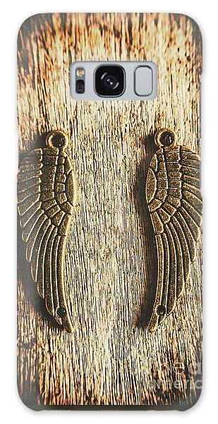 Bronze Angel Wings Galaxy Case