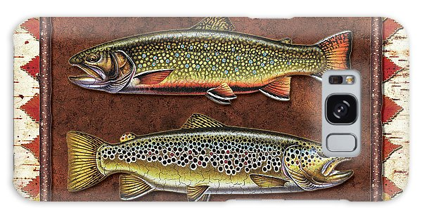 Brook And Brown Trout Lodge Galaxy Case
