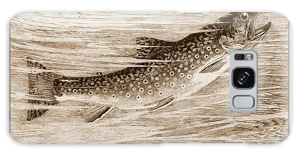 Brook Trout Going After A Fly Galaxy Case by John Stephens