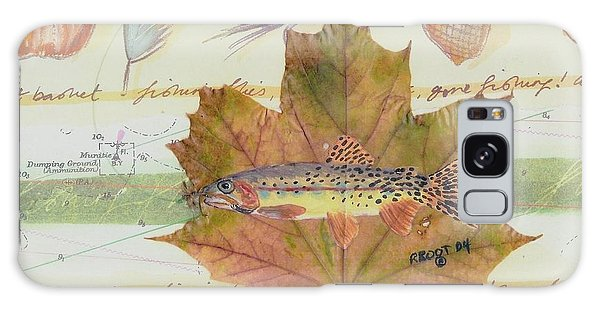 Brook Trout On Fly #2 Galaxy Case