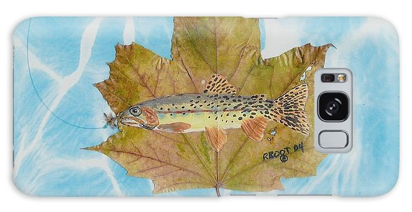 Brook Trout On Fly Galaxy Case