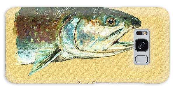 Trout Galaxy Case - Brook Trout Watercolor by Juan  Bosco
