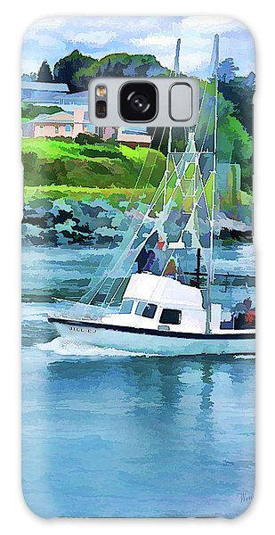 Brookings Boat Oil Painting Galaxy Case by Wendy McKennon