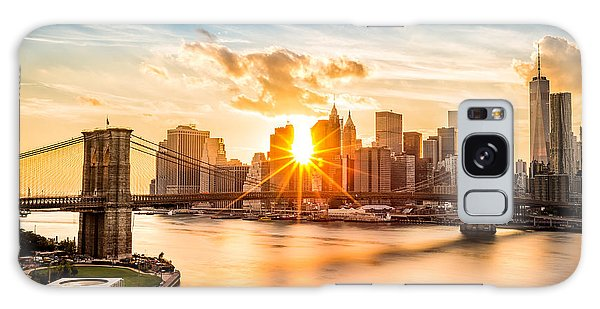 Urban Galaxy Case - Brooklyn Bridge And The Lower Manhattan Skyline At Sunset by Mihai Andritoiu