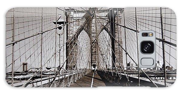 Brooklyn Bridge By Art Farrar Photographs, Ny 1930 Galaxy Case