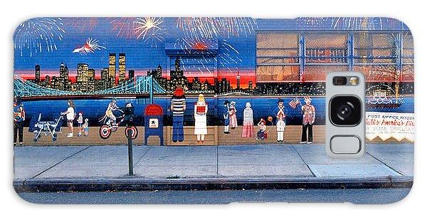 Brooklyn Bridge Fireworks Galaxy Case by Bonnie Siracusa
