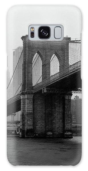 Brooklyn Bridge In A Storm Galaxy Case