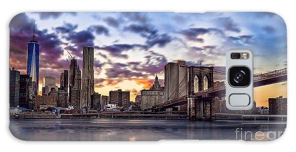 Brooklyn Bridge Manhattan Sunset Galaxy Case