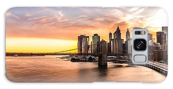 Brooklyn Bridge Panorama Galaxy Case