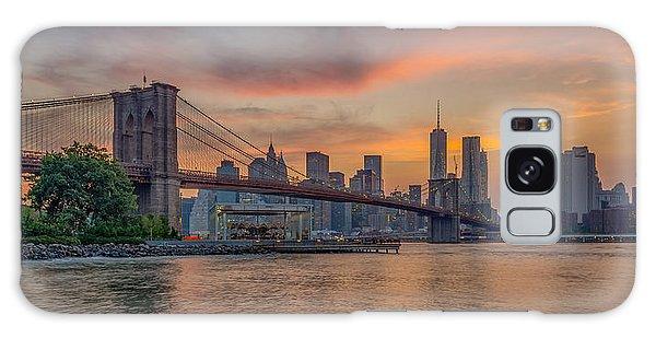 Brooklyn Bridge Summer Sunset Galaxy Case by Scott McGuire