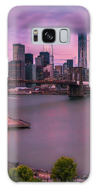 Brooklyn Bridge World Trade Center In New York City Galaxy Case