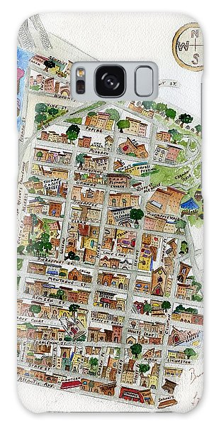 Brooklyn Heights Map Galaxy Case by AFineLyne