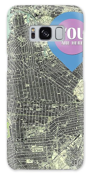 New Trend Galaxy Case - Brooklyn New York 1947 Old Map You Are Here by Drawspots Illustrations