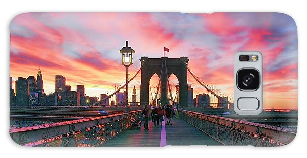 Brooklyn Sunset Galaxy Case by Rick Berk