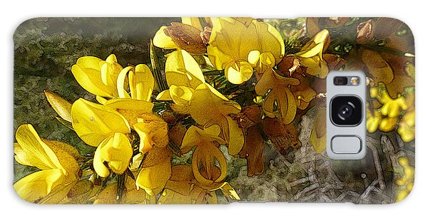 Broom In Bloom Galaxy Case by Jean Bernard Roussilhe