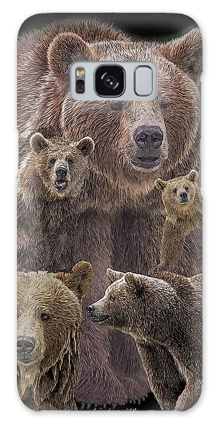 Brown Bears 8 Galaxy Case