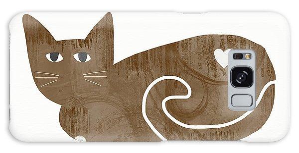 Tabby Galaxy Case - Brown Cat- Art By Linda Woods by Linda Woods