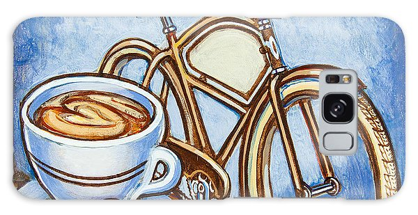 Brown Electra Delivery Bicycle Coffee And Amaretti Galaxy Case by Mark Jones
