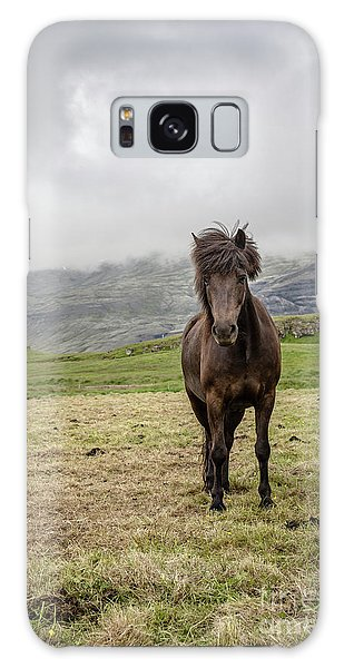 Galaxy Case featuring the photograph Brown Icelandic Horse by Edward Fielding