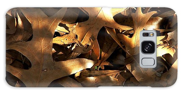 Brown Leaves And Sunlight Galaxy Case