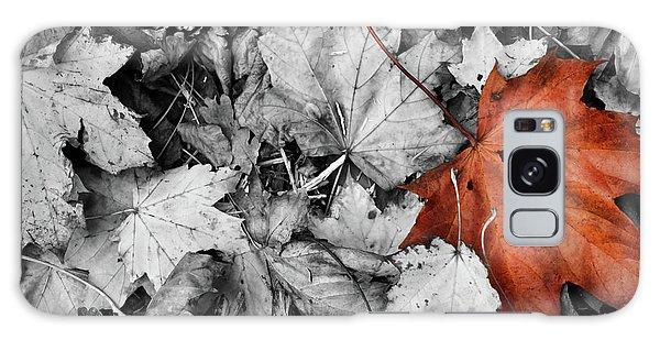 Brown Maple Leaf Galaxy Case