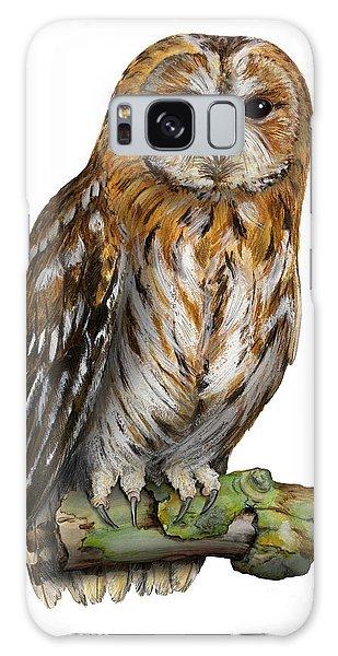 Brown Owl Or Eurasian Tawny Owl  Strix Aluco - Chouette Hulotte - Carabo Comun -  Nationalpark Eifel Galaxy Case