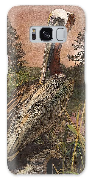 Brown Pelican Galaxy Case