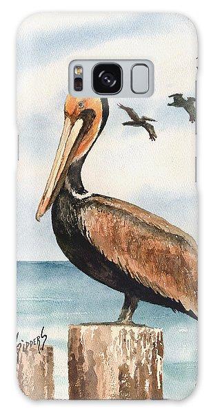 Brown Pelicans Galaxy Case