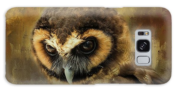 Brown Wood Owl Galaxy Case