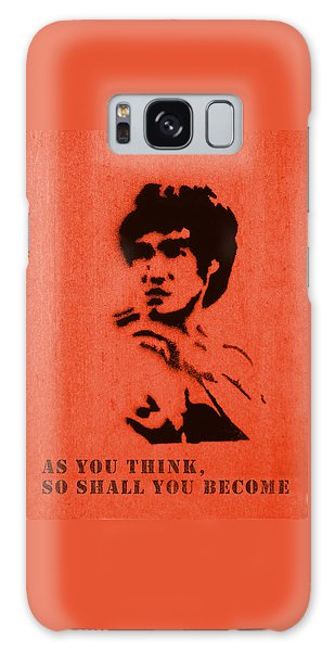 Bruce Lee - So Shall You Become Galaxy Case by Richard Reeve