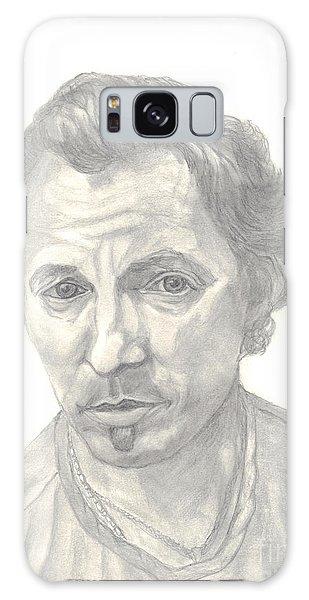Bruce Springsteen Portrait Galaxy Case by Carol Wisniewski