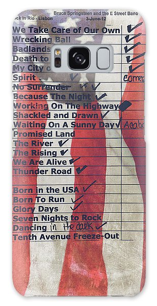 Bruce Springsteen Setlist At Rock In Rio Lisboa 2012 Galaxy Case