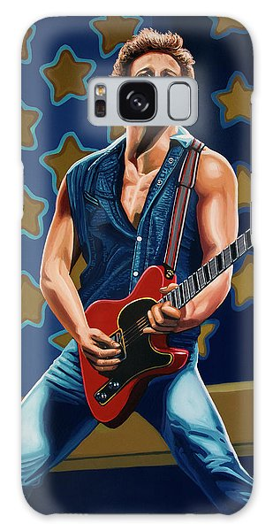 Bruce Springsteen Galaxy S8 Case - Bruce Springsteen The Boss Painting by Paul Meijering